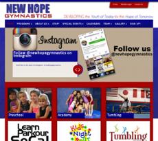 New Hope Gymnastics website history