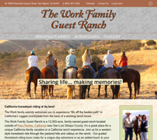 Work Family Guest Ranch website history