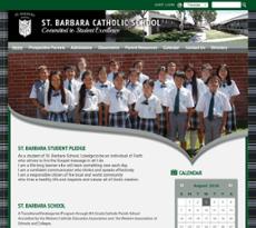 St. Barbara School website history