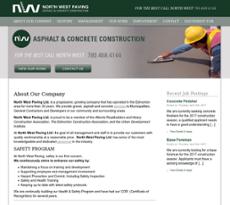 Northwest Paving website history