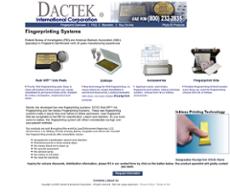 Dactek International website history