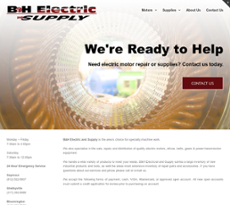 B&H Electric website history