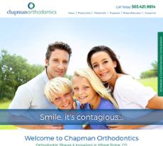 Chapman Orthodontics website history