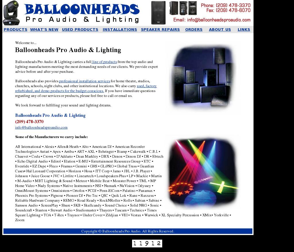 Balloonheads Pro Audio U0026 Lighting Competitors, Revenue And Employees    Owler Company Profile