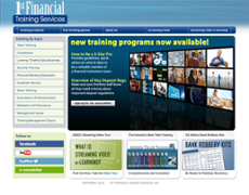 1st Financial Training Services website history