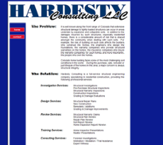 Hardesty Consulting website history
