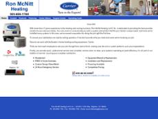 Ron McNitt Heating website history