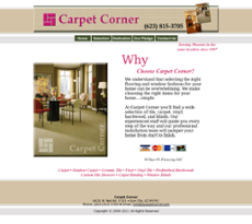 Carpet Corner website history