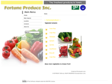 Fortune Produce website history