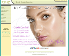 Brenda Christian Cosmetics website history