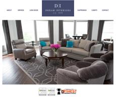 Dream Interiors website history