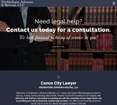 Fredrickson Johnson & Belveal website history