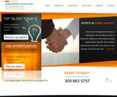 Management Recruiters of Bloomington website history