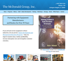 The McDonald Group website history