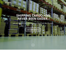 Astral Freight website history