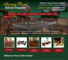 Aurora Road Billiards Supplies website history