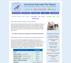 At-Home Kennels website history