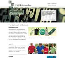 H And H Printing website history
