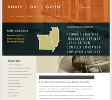 Knapp, Ohl & Green website history