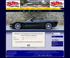 Toy Store Corvettes website history