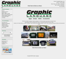 Graphic Language website history