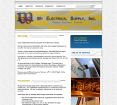 My Electrical Supply website history