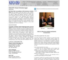 Maxim Hotel Brokerage website history