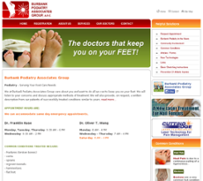Burbank Podiatry Associates Group website history