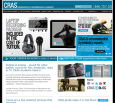 Conservatory of Recording Arts and Sciences website history