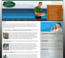 Bircher Exterminating Services website history