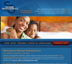 Ohmart Orthodontics website history