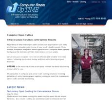 Computer Room Uptime website history