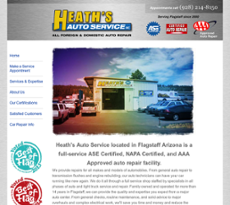 Heath's Auto Service website history