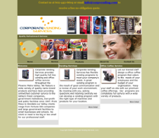 Corporate Vending Services website history