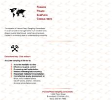 Francis Pitard Sampling Consultants website history