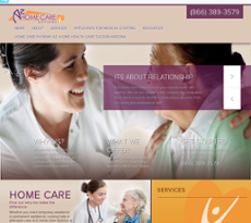A-Z Home Care Options website history
