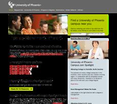 University Of Phoenix-chicago website history