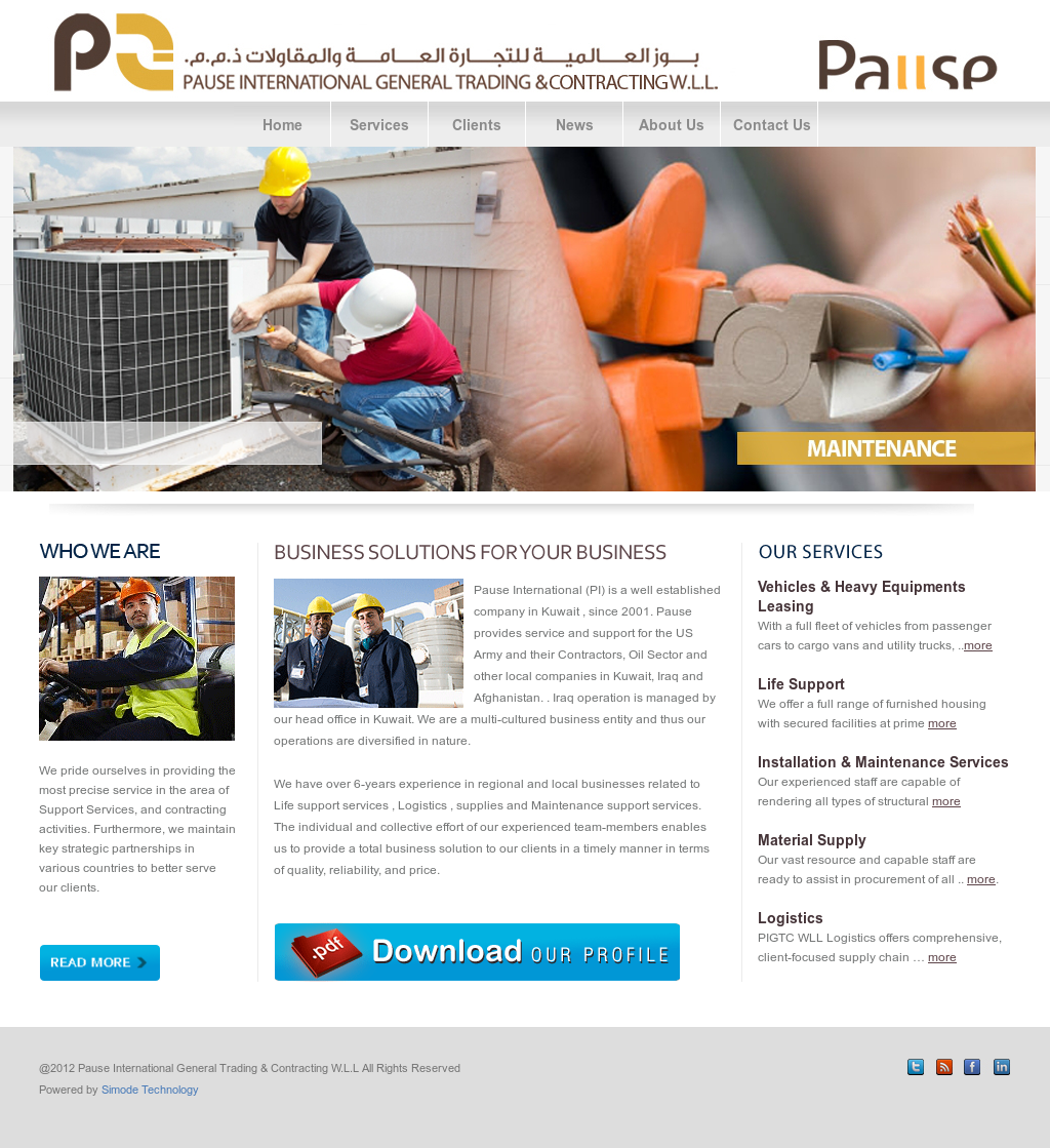 Pause International And General Trading Contracting Company