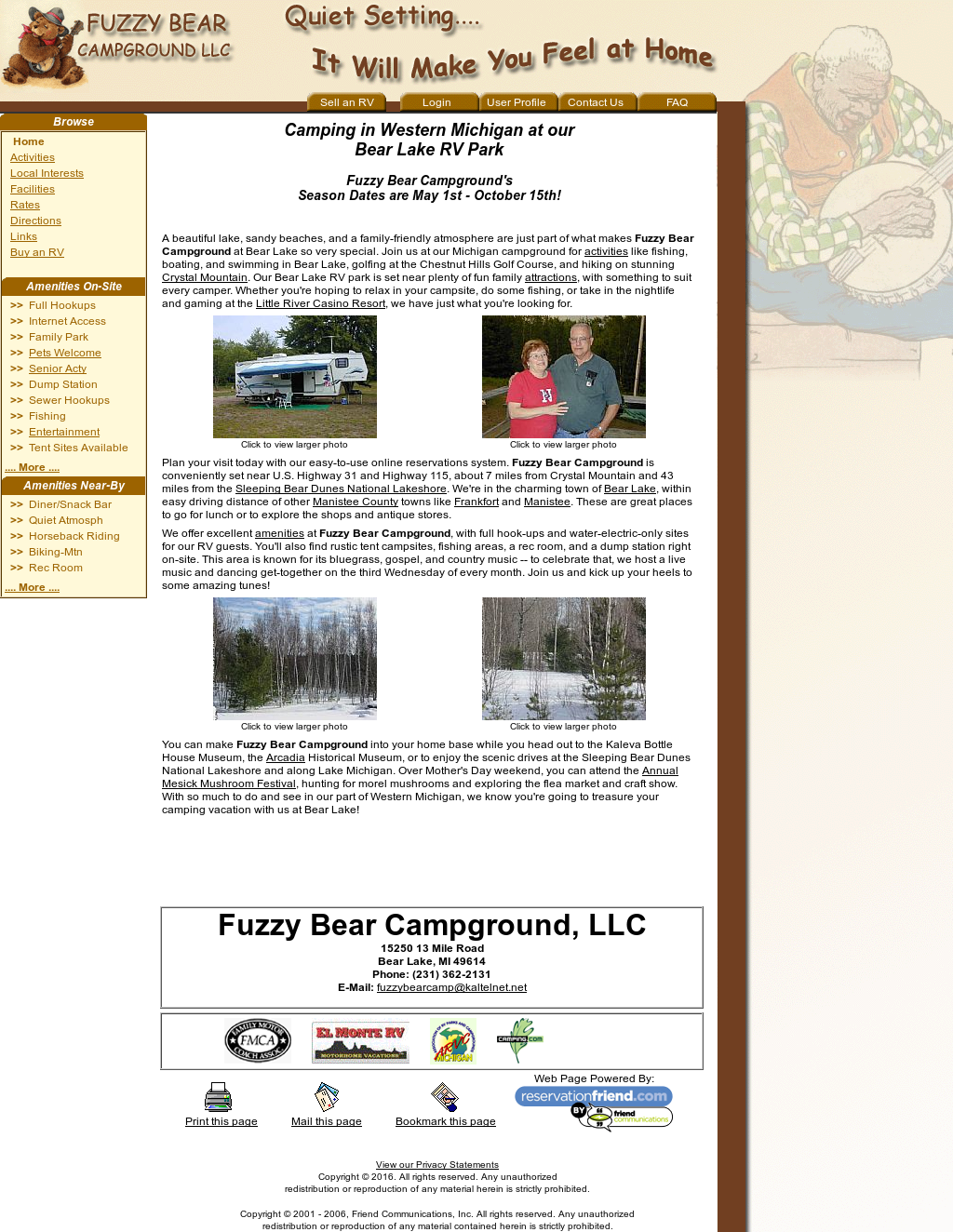 Fuzzy Bear Campground Competitors, Revenue and Employees