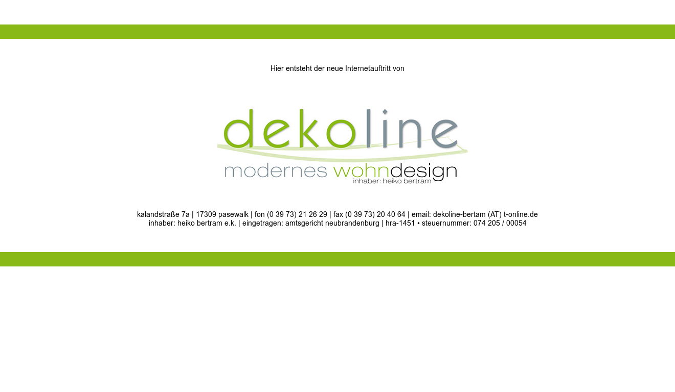 Dekoline Modernes Wohndesign Competitors Revenue And Employees