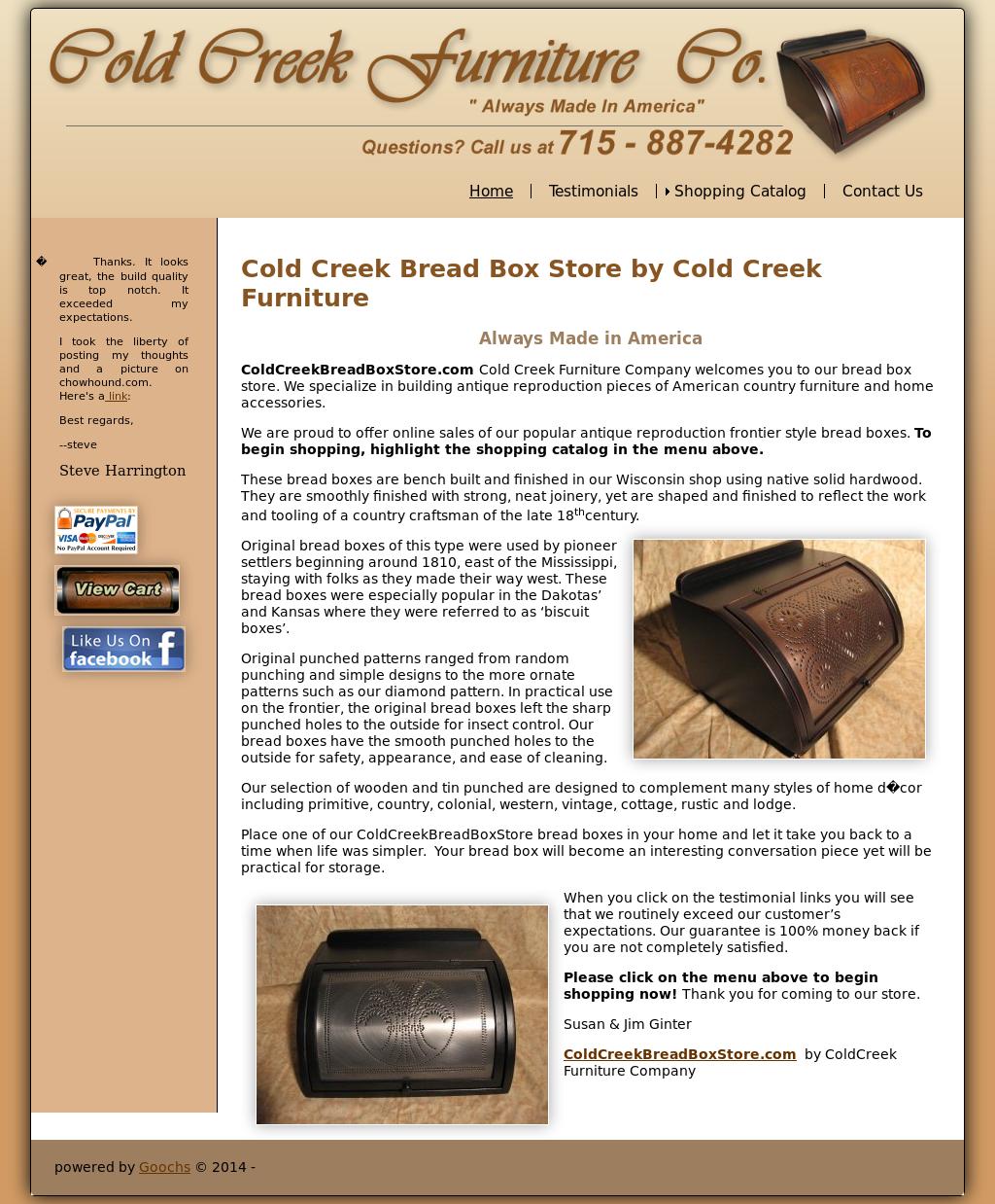Cold Creek Furniture Company