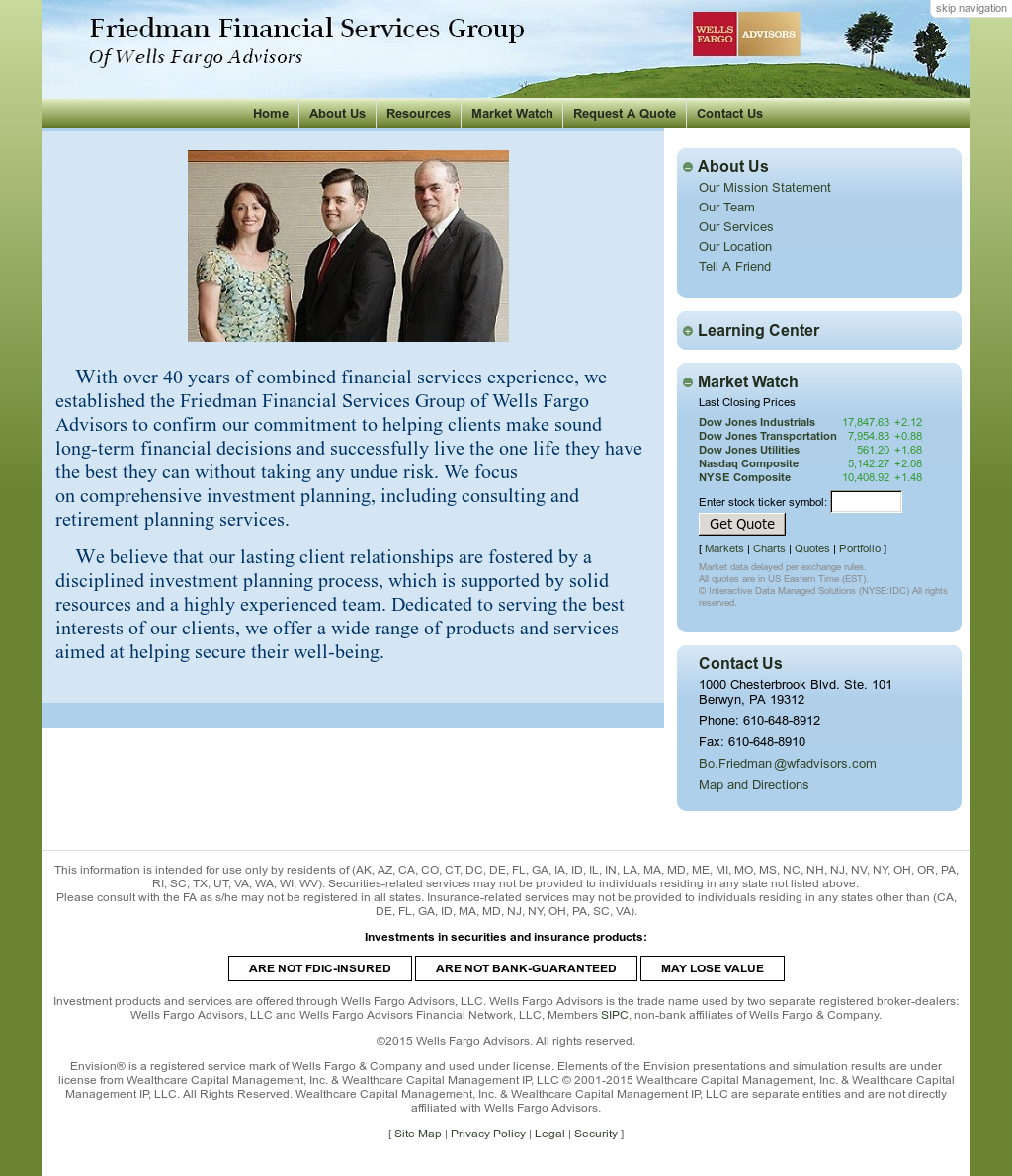 Friedman Financial Services Group Of Wells Fargo Advisors