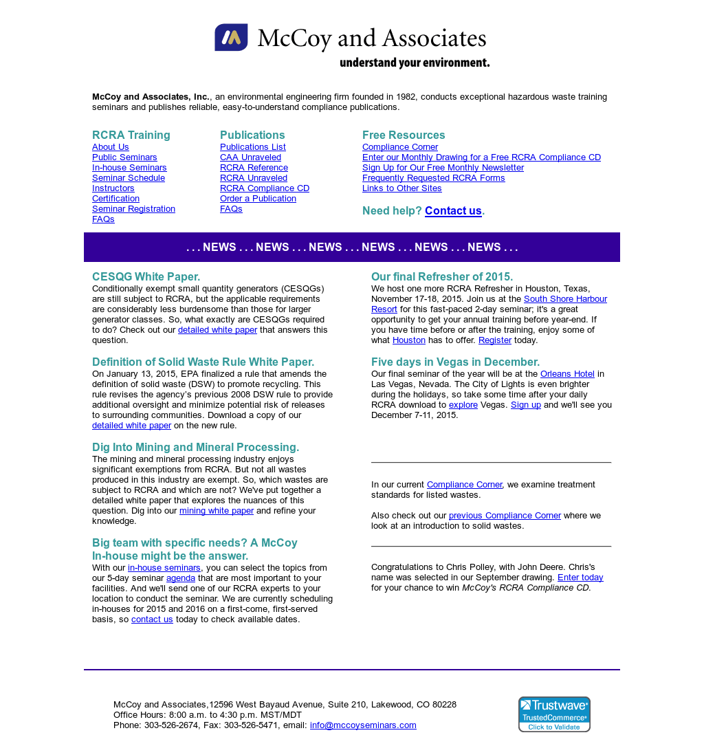 Mc Coy and Associates Competitors, Revenue and Employees