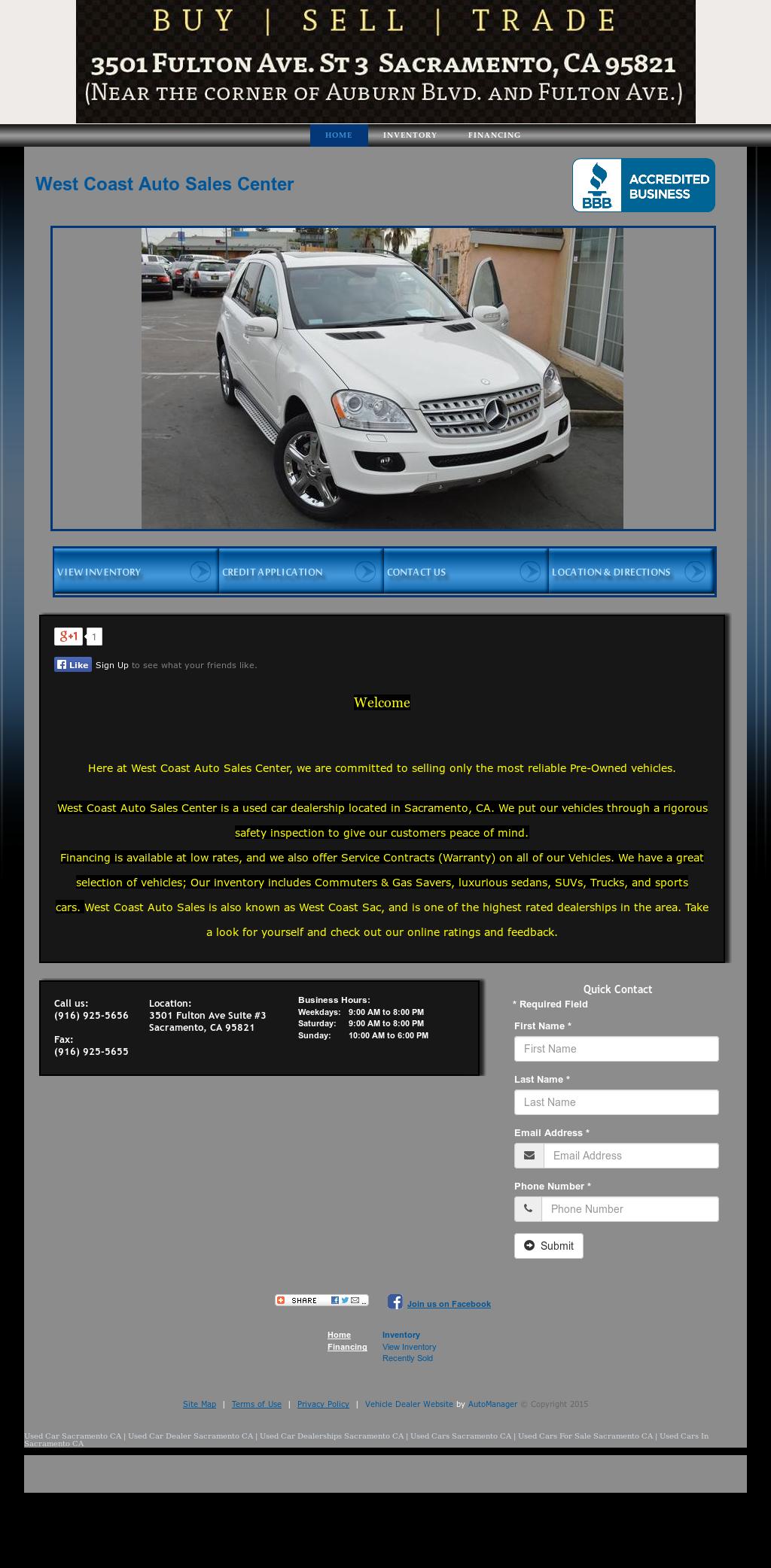 West Coast Auto Sales >> West Coast Auto Sales Center Competitors Revenue And