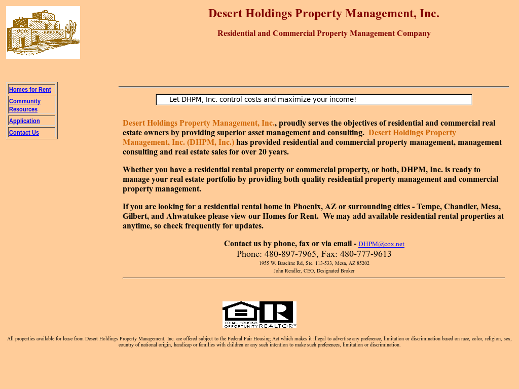 Desert Holdings Property Management Competitors, Revenue and
