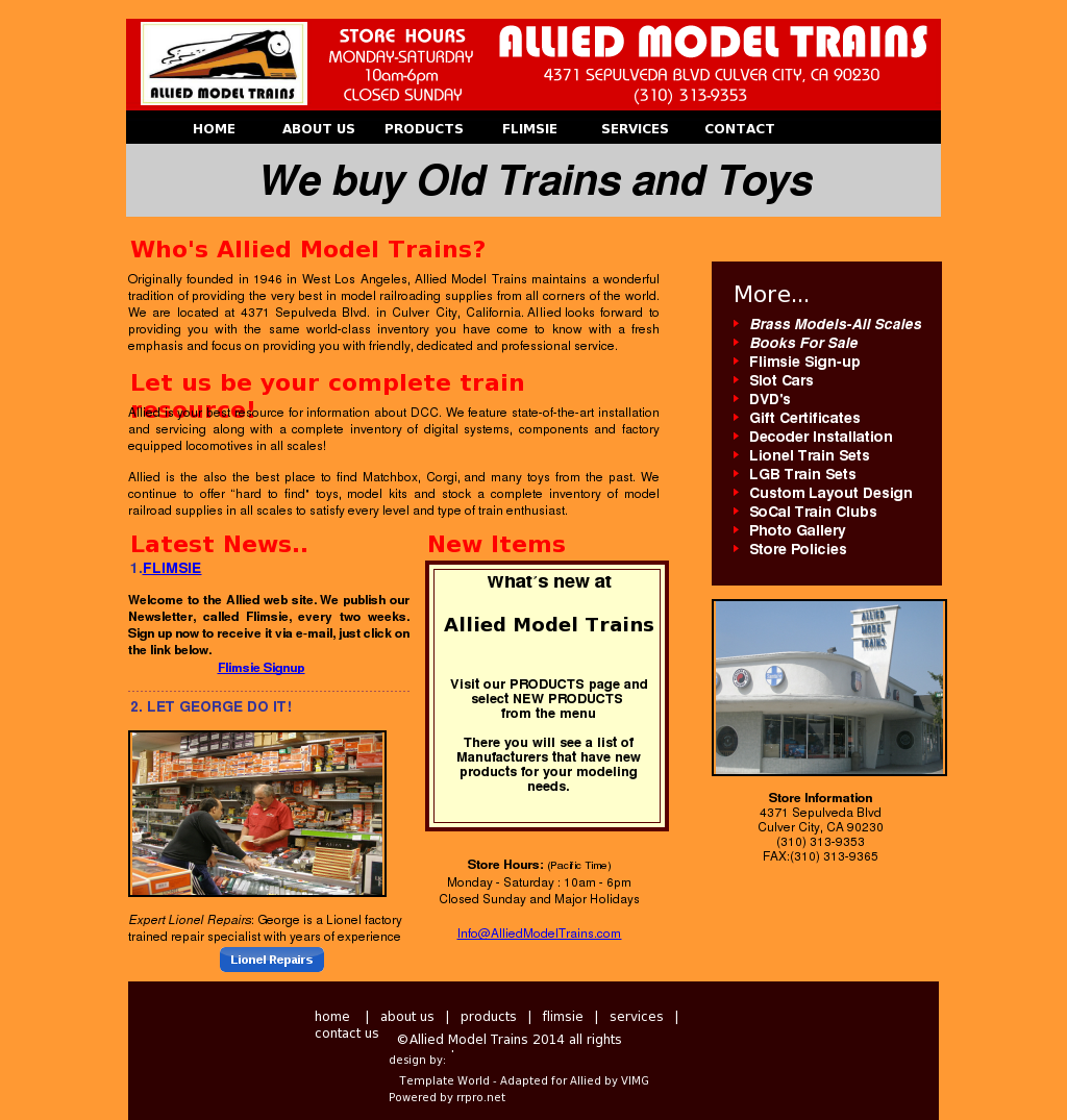 Allied Model Trains Competitors, Revenue and Employees