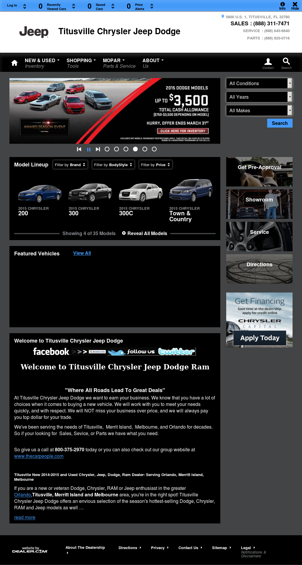 Titusville Chrysler Jeep Dodge Competitors, Revenue And Employees   Owler  Company Profile