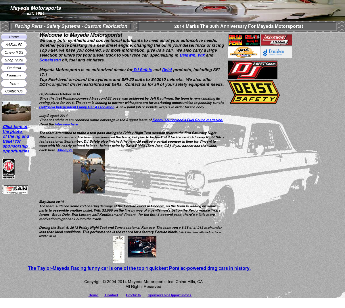 Mayeda Motorsports Competitors, Revenue and Employees