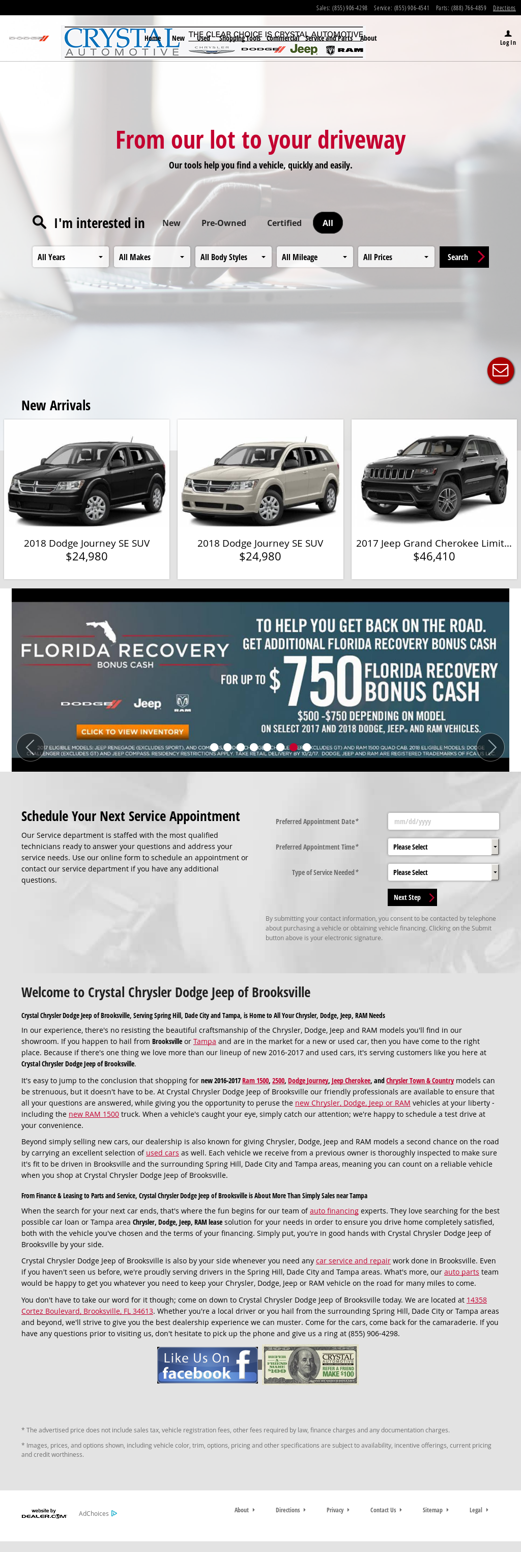 Crystal Chrysler Dodge Jeep Of Brooksville Website History