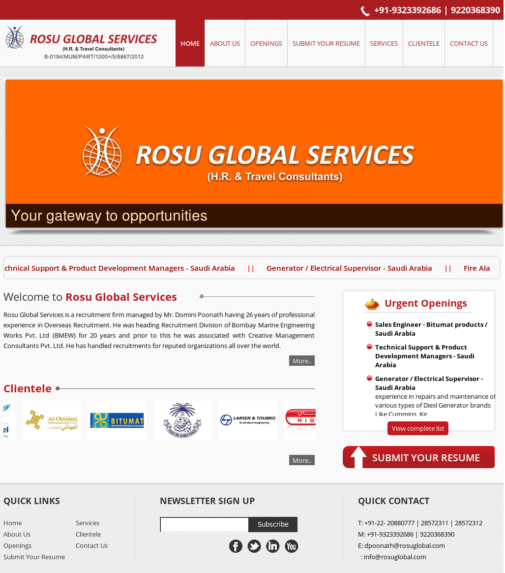 Rosu Global Services Competitors, Revenue and Employees